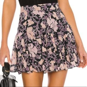 Free People End Of The Island Godet Skirt Floral